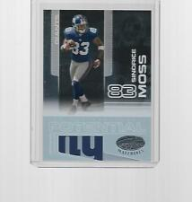 2007 LEAF CERTIFIED FOOTBALL CERTIFIED POTENTIAL SINORICE MOSS #CP-10