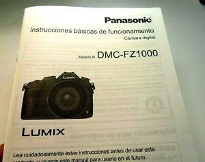 Panasonic Instructiones Basica De Funcionamento Appareil Photo Numérique Modelo