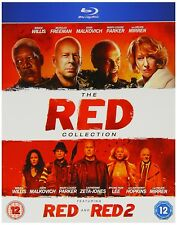The RED COLLECTION RED 1 & 2 BLU RAY BRUCE WILLIS MORGAN FREEMAN JOHN MALKOVICH