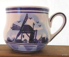 """Blue and White Pot Belly Mug with Windmill 3.25"""""""