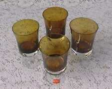 Set 4 Water Goblets   Arabesque Amber by Denby  1979  NOS  One Label Attached