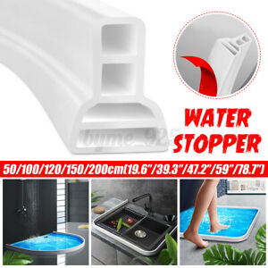 Bathroom Water Stopper Partition Dry&Wet Separation Barrier Rubber Water Blocker