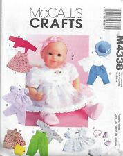 McCall's Craft Pattern #M4338-Baby Doll Clothes-Fits Medium & Large Baby Dolls