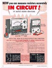 1970 Sencore FE20 FE21 Hi-Lo Field Effect Multimeter Vtg Print Ad