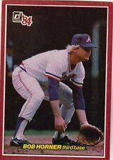 FREE SHIPPING-VG-1984 Donruss #10 Bob Horner Atlanta Braves (3.5X5 CARD)