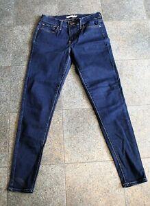 Classic LEVIS 710 Super Skinny DENIM Blue JEANS Size 28