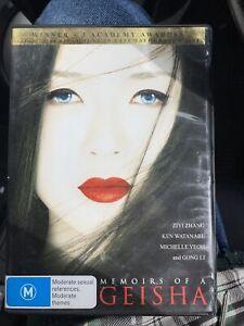 Memoirs Of A Geisha (DVD Region 4) Gong Li, Ziyi Zhang, Michelle Yeoh