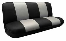Mesh Knit Polyester Black Gray Seat Cover FULL SIZE BENCH For Classic F-Series