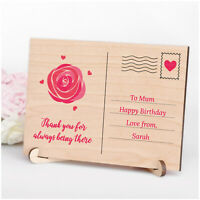 Thank You Mum Mummy Nanny PERSONALISED Birthday Keepsake Plaque Gifts for Her