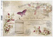 Reispapier-Motiv Strohseide-Decoupage-Serviettentechnik-Vintage-French-19065