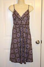 New York & Company Purple Paisley Print Cotton Empire Waist Sundress Size 6