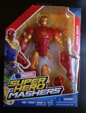 Marvel Super Hero Mashers IRON MAN Gold and Red action figure (VHTF!)