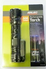 Arlec 300 Lumen Cree LED Rechargeable Torch / Flashlight-140m Range RT0004GB-New