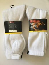 6 Pairs Wilson Mens Cushioned Crew Socks sz 10-13 Sports Outdoor Hiking Original
