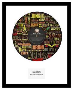 GUNS N' ROSES - MEMORABILIA - VINYL RECORD LYRIC ART- Limited Edition
