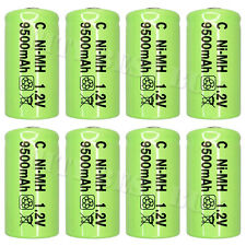 8 x C Size 9500mAh 1.2V NiMH Rechargeable Battery Green