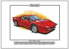 Ferrari 288 GTO 1984-85 - Kunstdruck A4 Größe - klassisch Italian V8 Supercar