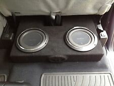 07 to 16 TOYOTA TUNDRA DC SUB WOOFER BOX ENCLOSURE  2 10 BOX ONLY