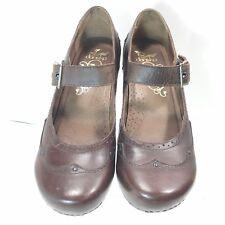 556b261aa62b Women Dansko 40 Mary Jane Strap Block Heel Leather Shoes - Brown - Size 9.5  US