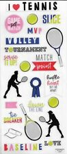 "Tennis Scrapbook Stickers 5"" x 12"""
