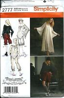S 2777 sewing pattern Arkivestry DRESS BLOOMERS TOP CAP sew Goth 6,8,10,12 Boho