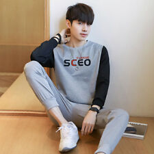 Casual Style Contrast Color Top w Pants Tracksuit - Gray