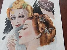 ART DECO HAIR Stylists ILLUSTRATION recent find in French SALON amazing  f