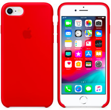Rot Apple Echt Original Silikon hülle für iPhone 8 / 7 / SE 2 (4.7)