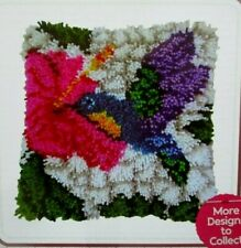 """Latch hook rug//pillow kit  /""""Camper van/"""" by Hobbycraft   Latch tool included"""