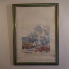 Aquarelle sur papier signée watercolor on paper signed SUMMER MORGAN