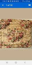 Croscill Yellow PAVILION  2 Standard Pillow Shams Pink Floral