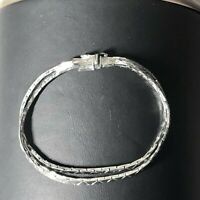 925 sterling silver double chain bracelet. 7.5""