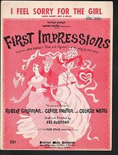 I Feel Sorry For the Girl 1959 First Impressions (Pride & Prejudice) Sheet Music