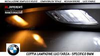 """COPPIA 2 LAMPADINE LED LUCI TARGA BIANCO GHIACCIO """"BMW SERIE 5 (E39)"""" 1995-2000"""