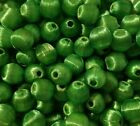 144 pcs Vintage Silk Thread Wrapped Craft Jewelry Beads 10mm Round Green