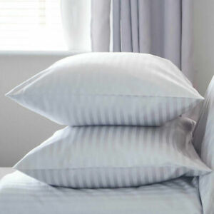 Extra Filled Quilted Luxury Ultra Loft Jumbo Super Bounce Back Stripe Pillows