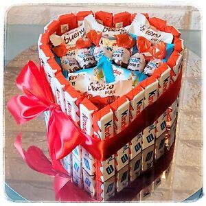 Pralinentorte Herz Kinderriegel Kinderschokolade Riegeltorte Geburtstagsgeschenk