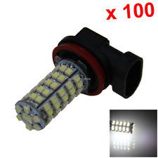 100x White RV H11 Rear Blub Exterior Lamp 68 Emitters 1210 SMD LED PGJ19-6 H204