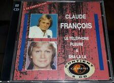 CLAUDE FRANCOIS DOUBLE CD GEMINI 2 CD COMPILATIONS LE TELEPHONE PLEURE/SHA LA LA