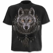Spiral Wolf Dreams T-shirt Short Sleeve Adult Male Medium Black Tr292600-m