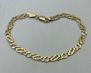 9ct Gold Hallmarked Ladies Celtic Link Bracelet.  Goldmine Jewellers.