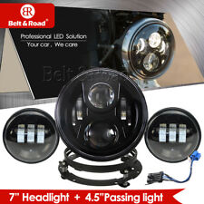 7 inch CREE LED Headlamp + 2 x 4.5inch Fog Lamps for Harley Davidson 2014-2018