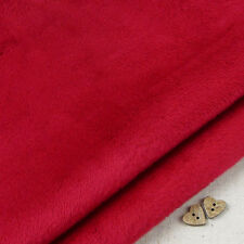 Crimson Red Smooth Cuddle Soft Fur Fabric / quilting fleece Christmas stocking