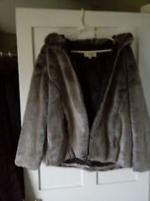 'NEXT' Super soft thick faux fur hooded jacket. Size 16. Wonderful condition.