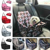 Portable Dog Car Seat Bag Booster Safety Leash Basket Storage Pocket Travel Pet