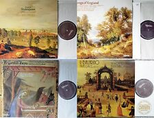 LOT 4 Hyperion LPs  Songs To Shakespeare Italian Dances c1600  Songs Of England