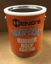 1 GALLON HENGS RUBBER ROOF COATING RV CAMPER TRAILER MOTOR HOME WHITE