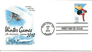 US Scott #4436, First Day Cover 1/22/10 Park City Single Winter Olympics