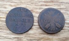 Scandinavian Bronze Coins 1768 And 1771