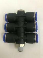 10mm Schiebepassung Triple T-Shirt, 1/8 Bsp , Stapel Hohl 6 X Drehbar Manifold
